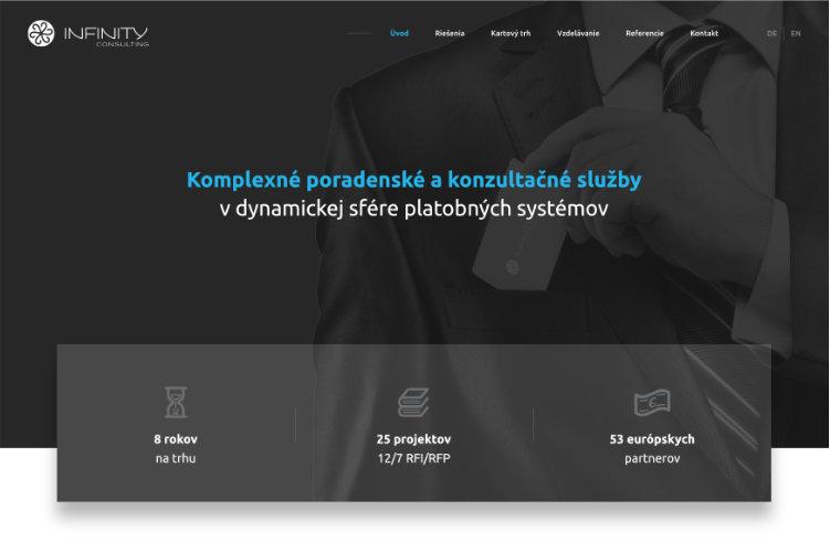 Obrazovka webovej stránky