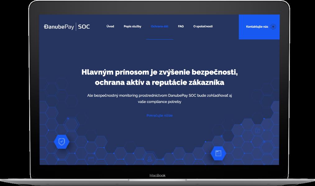 Webová stránka na notebooku