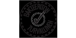 Bakteeriton ja turvallinen-leima