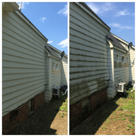Pressure washing project