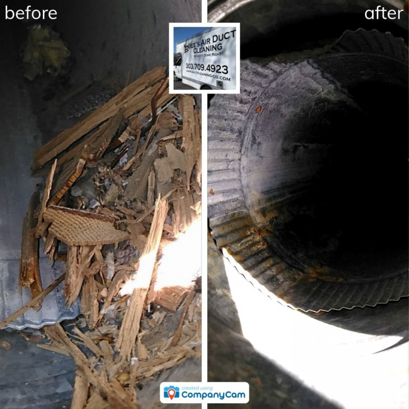 photo proof of vent cleaning in fort collins