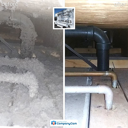 greeley air duct cleaning before and after photo