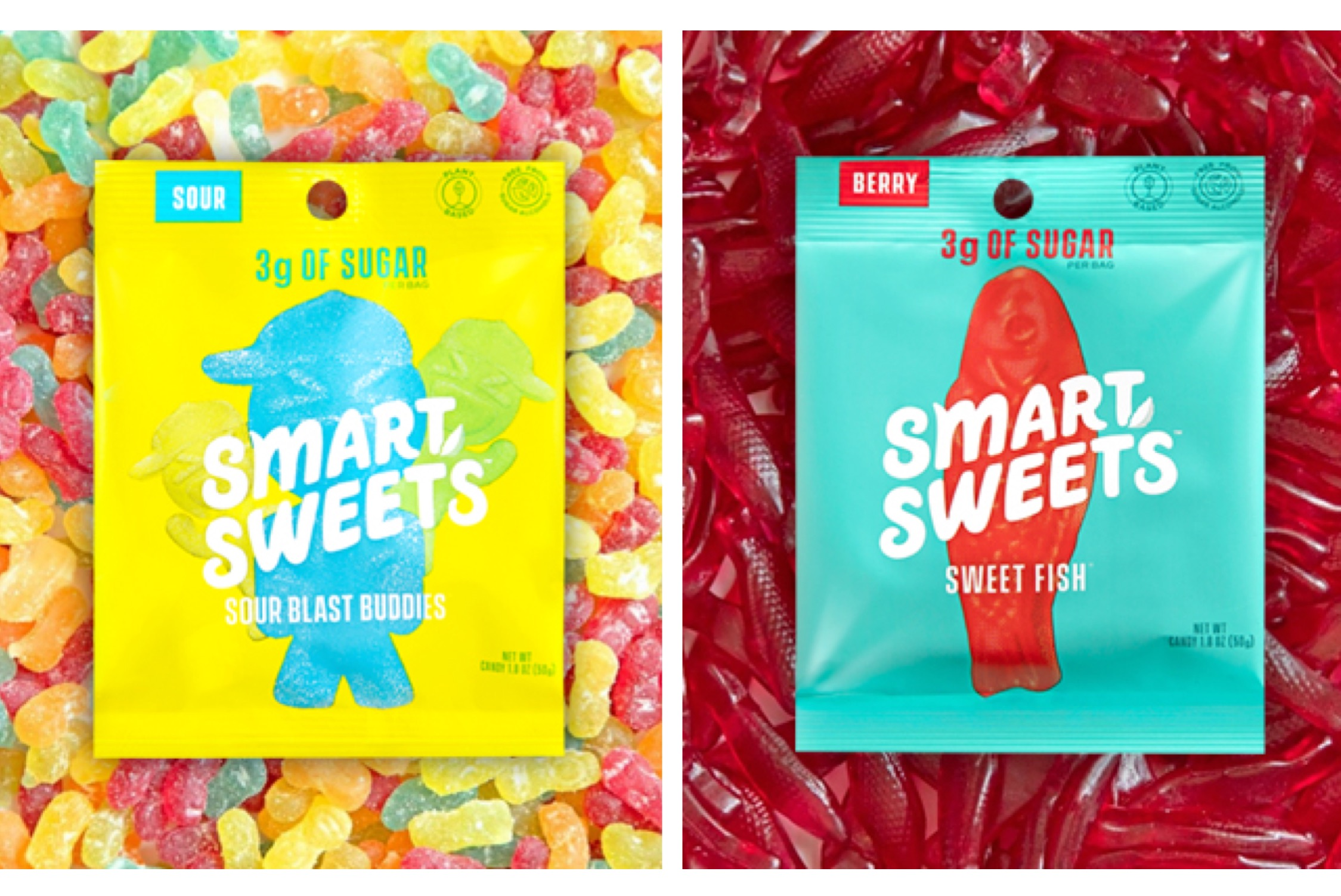 SmartSweets Sour Blast Buddies & Sweet Fish