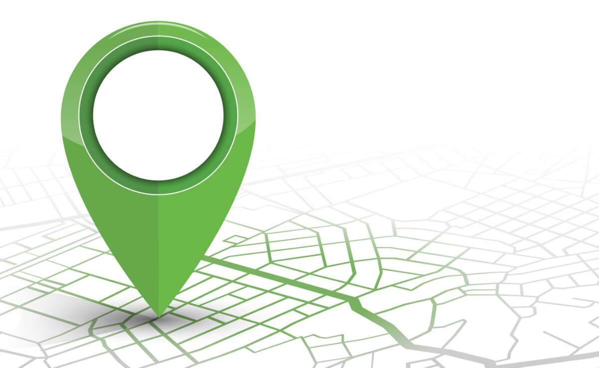 Green location marker image