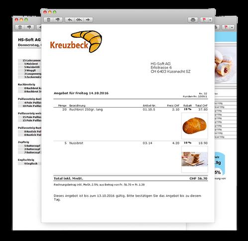 Bäckerei Software Für Warenwirtschaft Fakturaassist Hs Soft