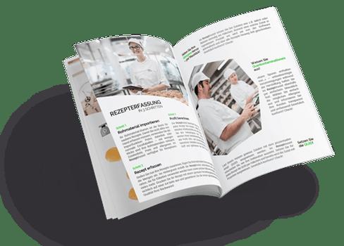 PDF Flyer mit RezeptAssist Rezepterfassung Software von HS-Soft