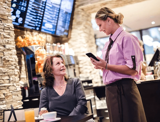 Bargeldlos bezahlen mit Bestellterminal mobileWaiter