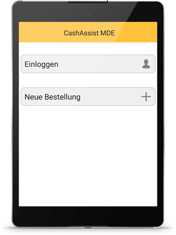 Filialbestellsystem mit Tablet