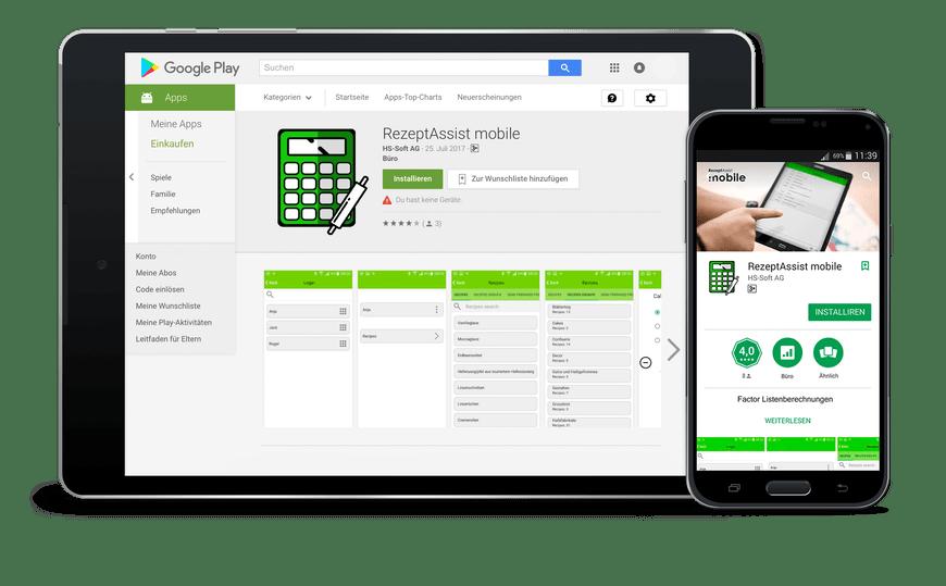 RezeptAssist mobile app einrichten