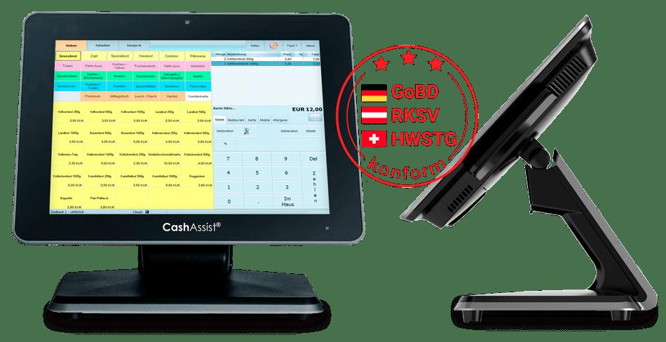 Bäckerei stationäre PC Kasse, Registrierkasse - CashAssist 100% GoBD, RKSV und HWSTG konform: erfüllt alle rechtlichen Anforderungen in Deutschland, Österreich und Schweiz