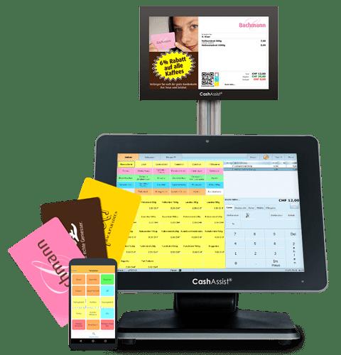 Touchscreen an stationärer Kasse