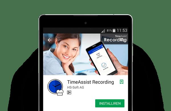 TimeAssist Zeiterfassung App in Action