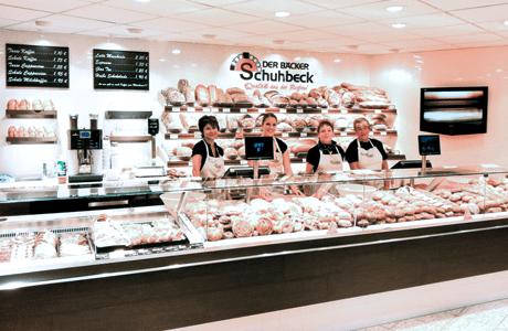 Der Bäckerei Schuhbeck mit dem HS-Soft Bäckerei Kassensystem Kundendisplay