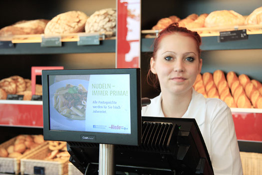 320 CashAssist Filialkasse in Bäckerei Der Beck