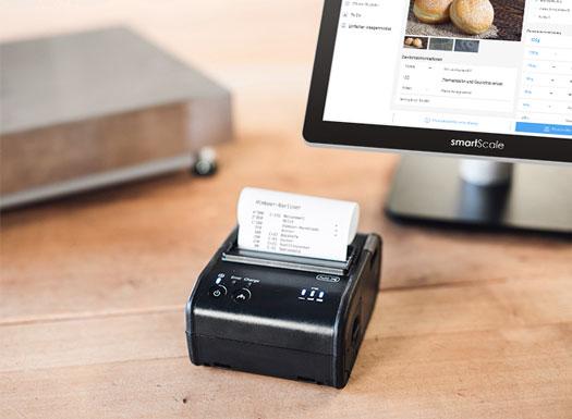 Rezepturverwaltung smartScale mit Über einen Drucker wird ein Report mit den bereits erledigten Arbe