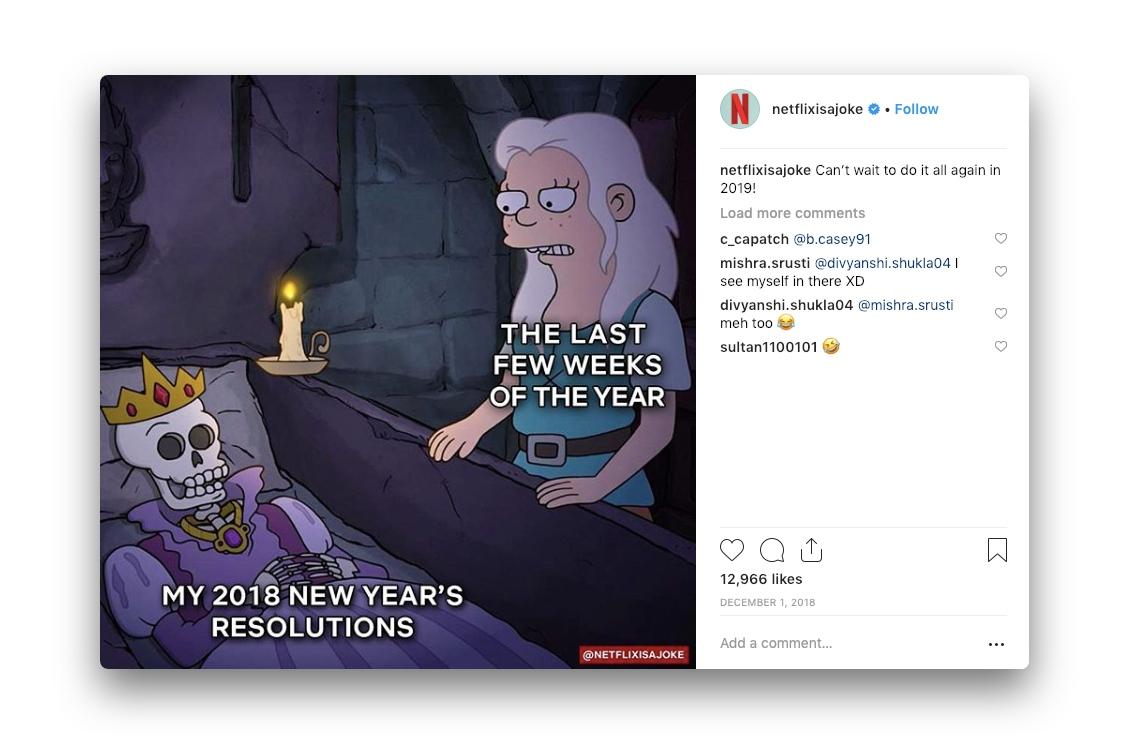 A meme by Netflixisajoke on Instagram
