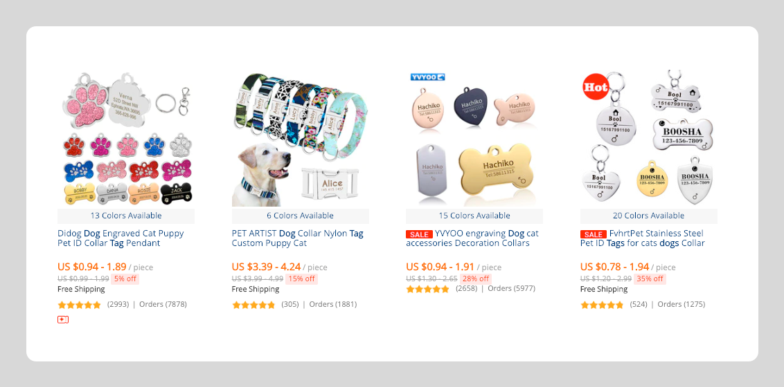Aliexpress products for dropshipping in the dog niche