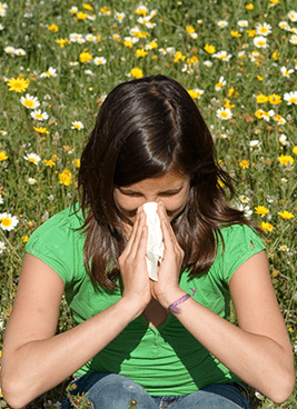 Outdoor pollen can trigger allergic symptoms that we can help treat.