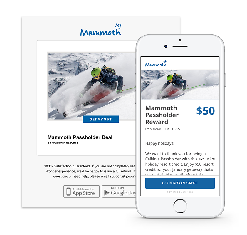 mammoth Mountain Incentives with Wonder Technologies
