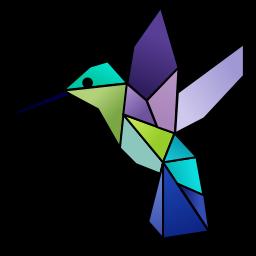 Un Colibrí hecho con figuras geométricas