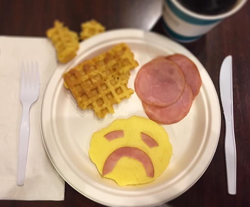 A very sad, inedible breakfast.