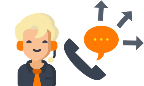 Callcenter Outbound Illustration