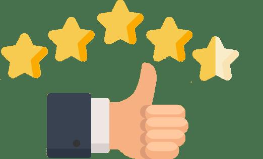 Positive Bewertung von Kunden