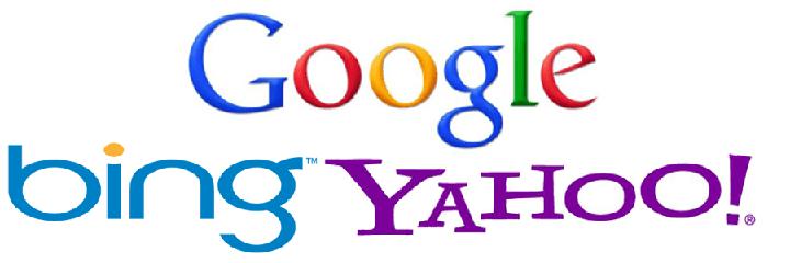 Suchmaschinen Logos führender Unternehmen