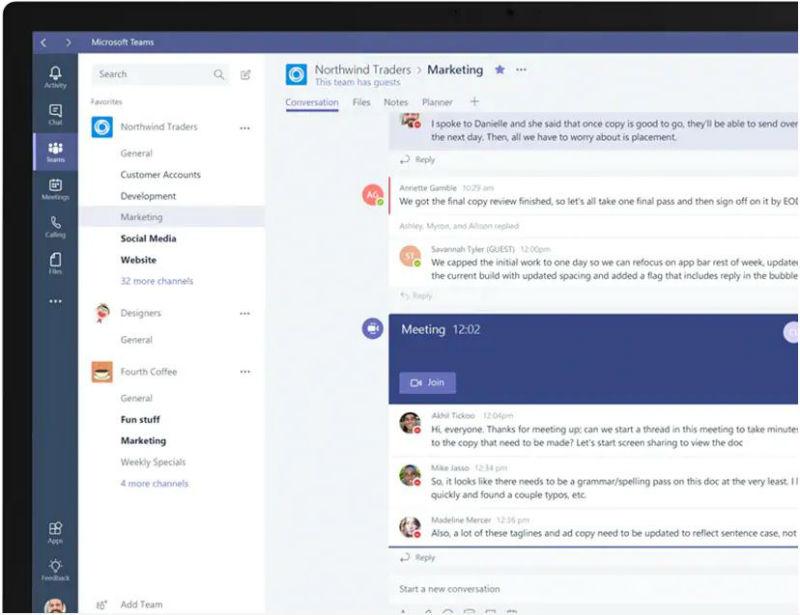 Microsoft Teams är ett verktyg för att samla människor, konversationer, filer och verktyg. Bildkälla: Microsoft
