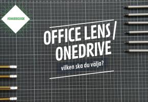 Office Lens vs OneDrive - vilken är bästa appen för att digitalisera whiteboardtavlan?