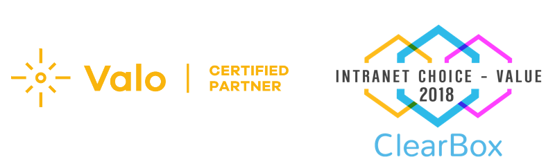 Valo Certified partner | Valo - ClearBox Intranet Choice - Value 2018