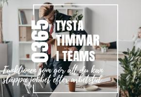 Funktionen du inte visste fanns i Teams som gör att du kan släppa jobbet efter arbetstid