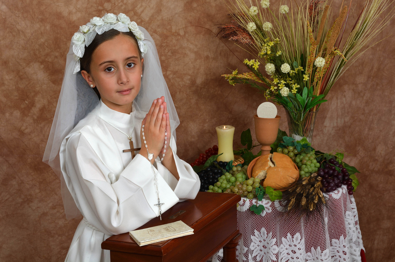 Gozo Communion Photoshoot in Studio