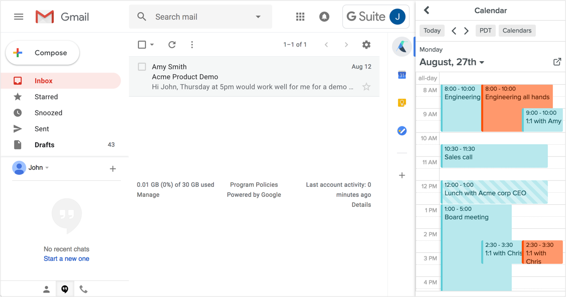 Gmail Integration | Meetingbird
