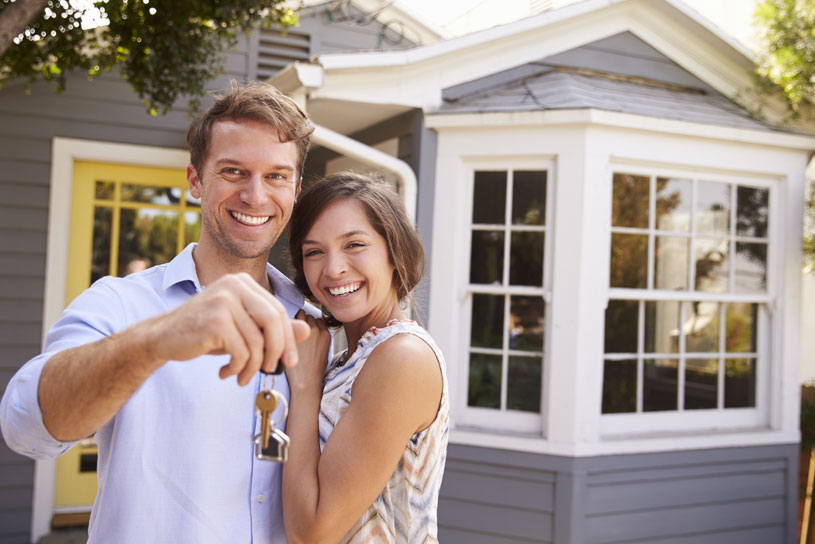 young happy Australian couple buying first home in Victoria