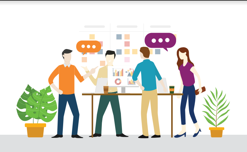stand up meeting graphic