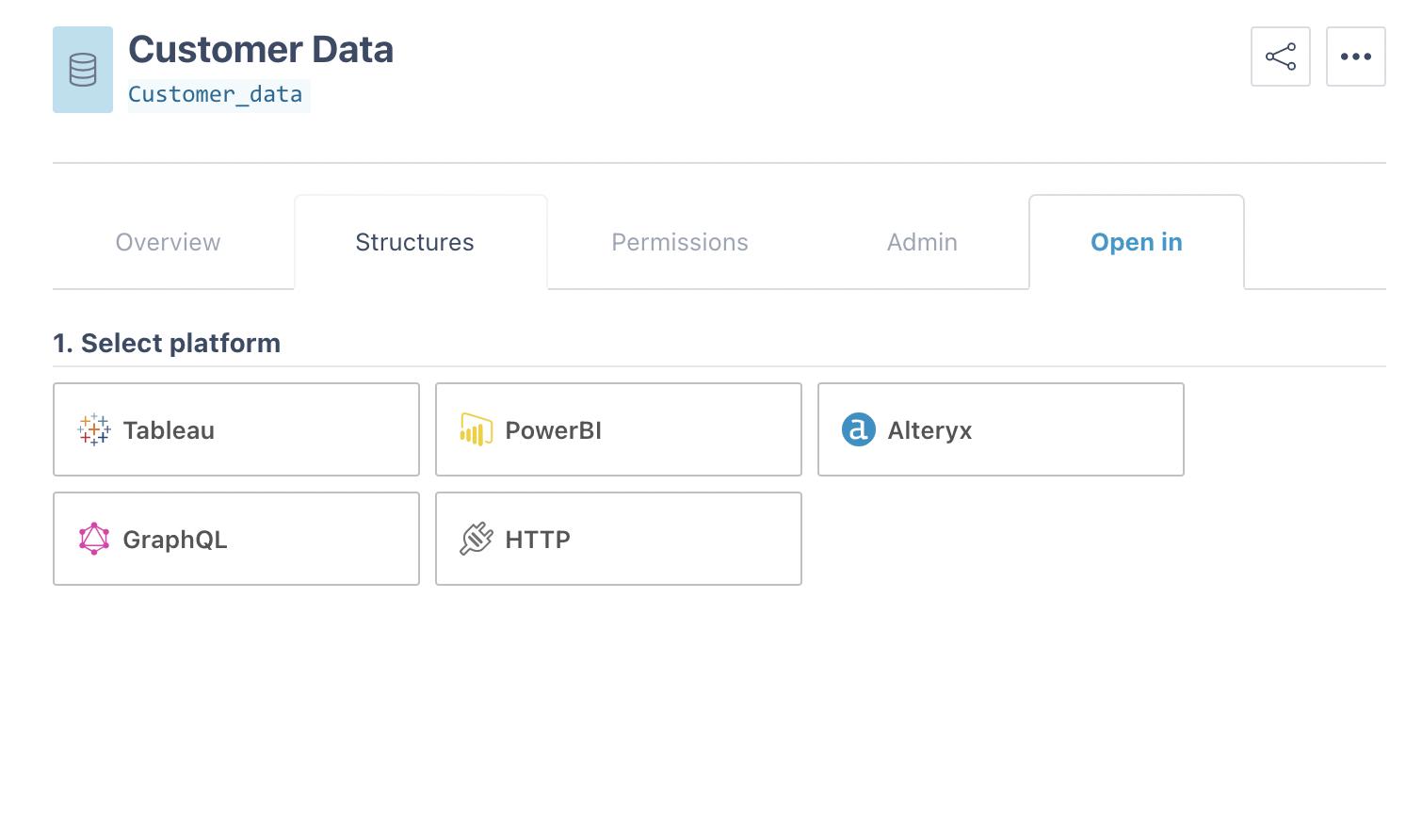 data export API BI tool