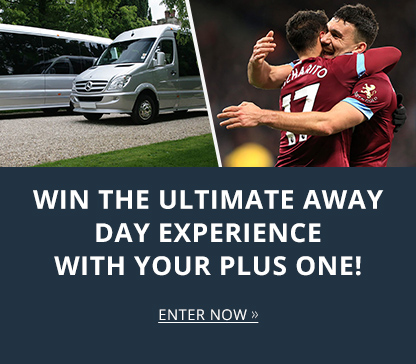 CHANCE TO WIN THE ULTIMATE AWAY MATCHDAY EXPERIENCE