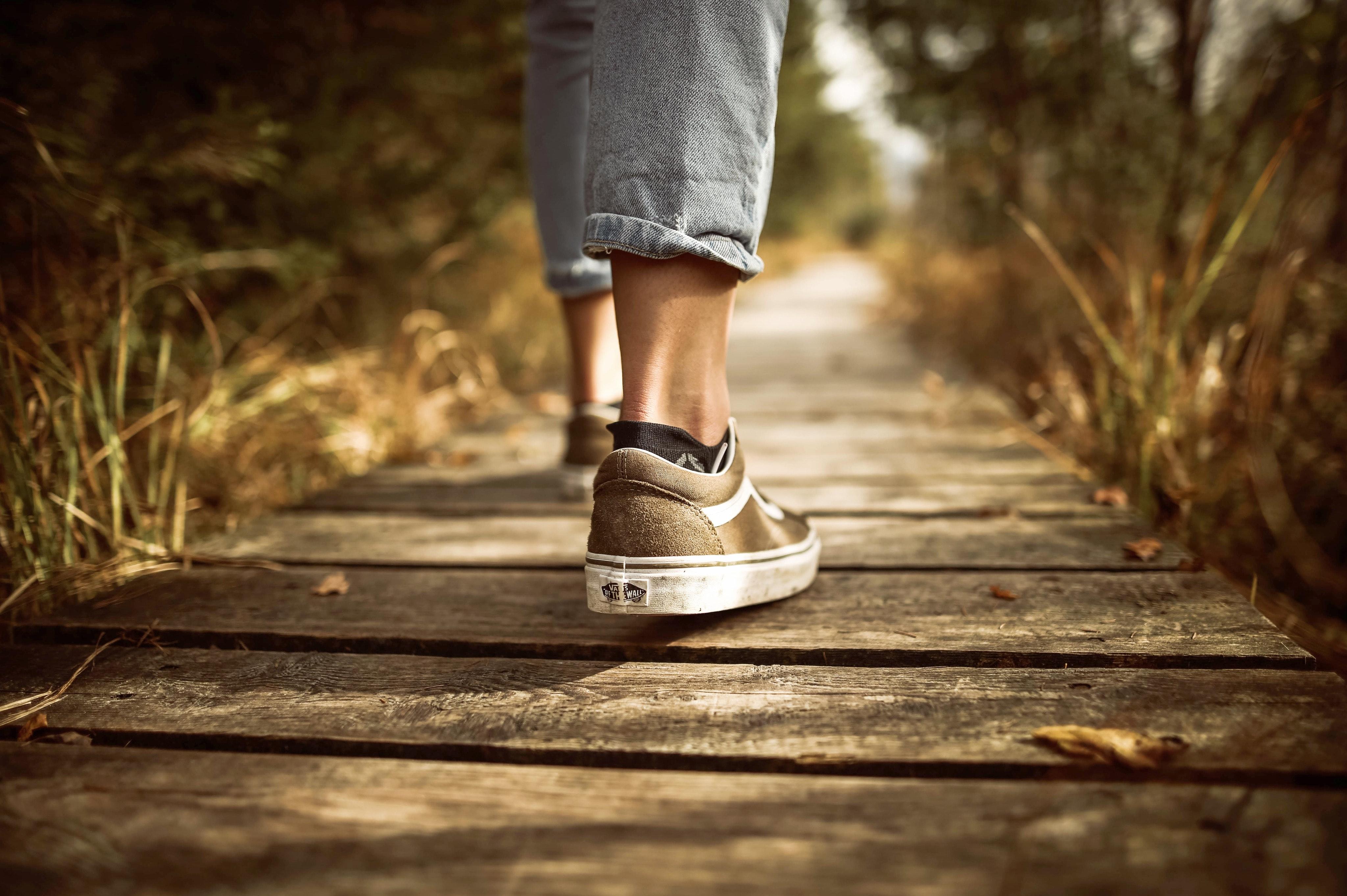 Adolescent Walking on Road