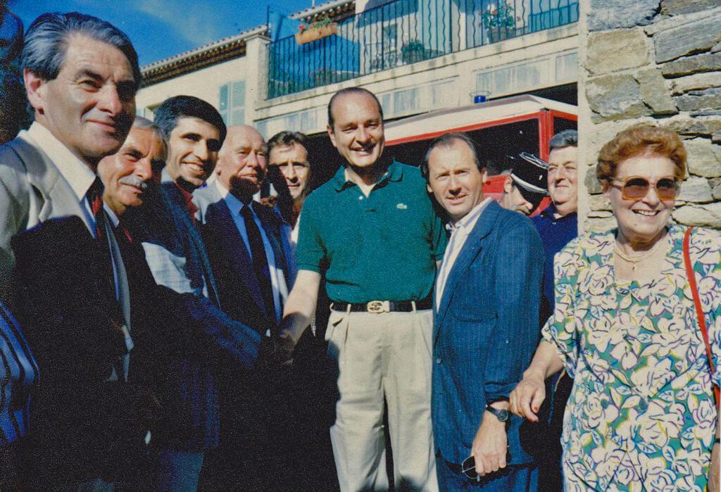 Jacques Chirac au Rayol