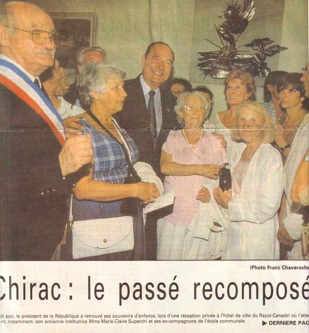 Jacques Chirac à l'hôtel de ville