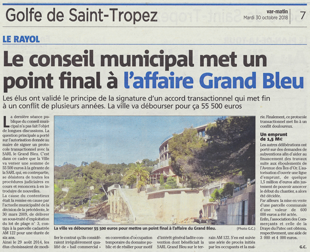 Affaire du Grand Bleu