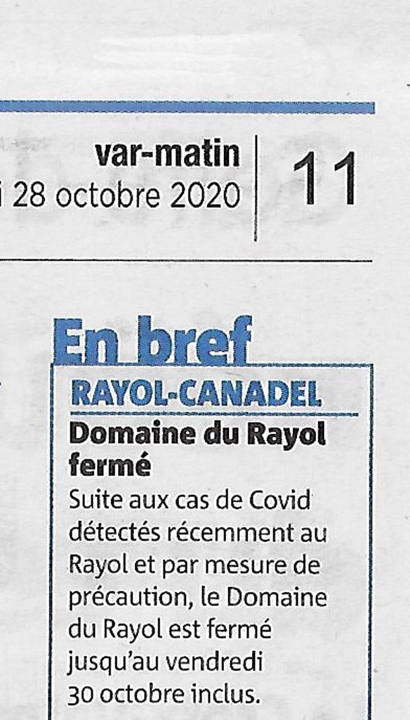 Domaine du Rayol fermé
