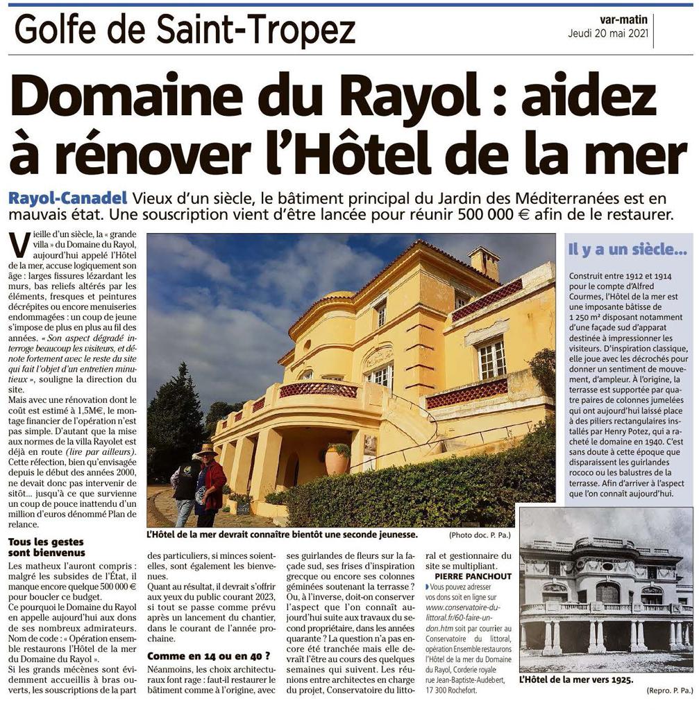 Domaine du Rayol - Rénovation de l'hôtel de la mer.