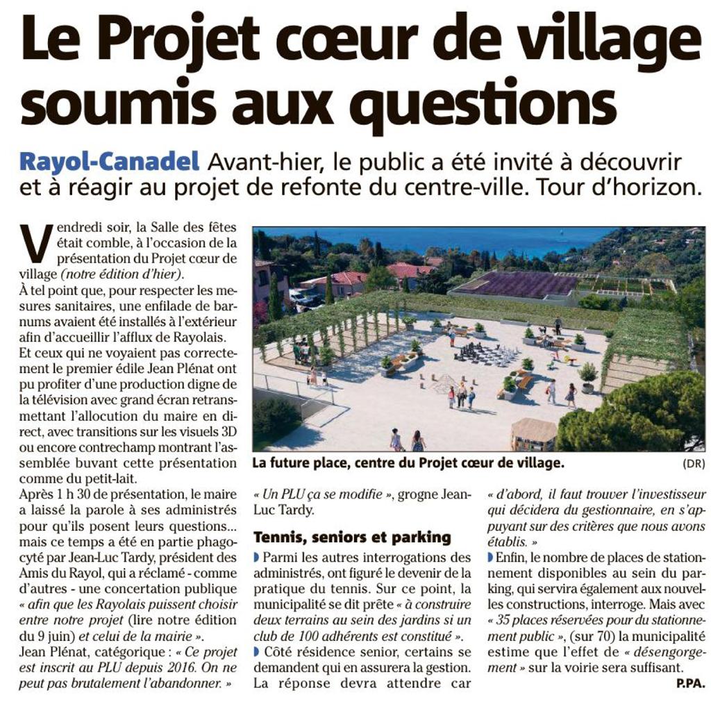 """Projet coeur de village par la municipalité """"deuxième"""" édition du 12/07/2021"""