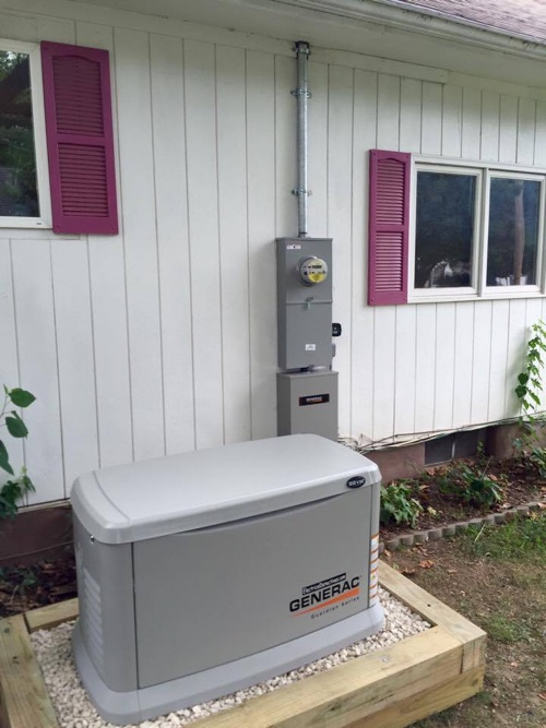 generator installed by service detectives in an energy home