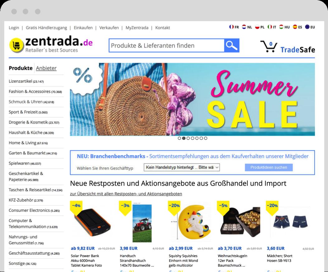 Zentrada Grosshandelsmarktplatz Fur Wiederverkaufer