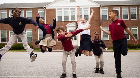 Students at Bethel Christian Academy in Maryland