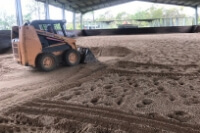 Removal of the old sand