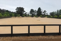 GeoPro and sand blend ready to spread on the arena